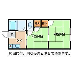 東荘[2階]の間取り