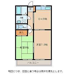 サンクレールI[1階]の間取り