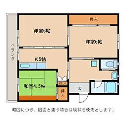 ビレッジハウス五個荘[5階]の間取り