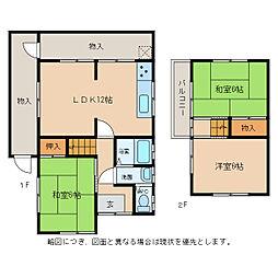 [一戸建] 滋賀県東近江市長勝寺町 の賃貸【/】の間取り