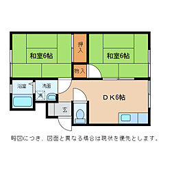 ハイツ大沢[2階]の間取り