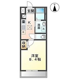 JR内房線 木更津駅 徒歩6分の賃貸アパート 1階1Kの間取り
