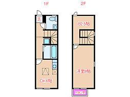 JR日豊本線 帖佐駅 徒歩6分の賃貸アパート 1階1SDKの間取り