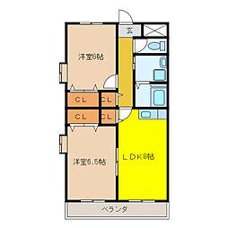 惣武マンション[4階]の間取り