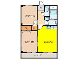 メゾン・ド・SWEET II[3階]の間取り