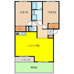 ミノ エトワール[1階]の間取り