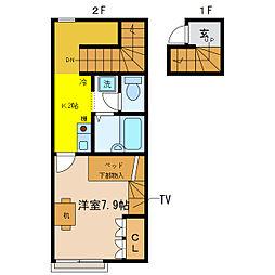 レオパレスCATSII[2階]の間取り