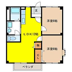 メゾン須賀I[2階]の間取り