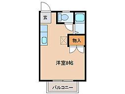 岐阜県岐阜市下奈良3の賃貸アパートの間取り
