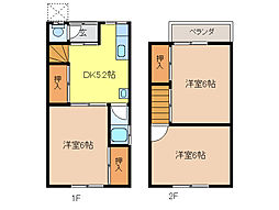 門間第1アパートA[1階]の間取り