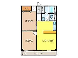 ダンヒル21[3階]の間取り