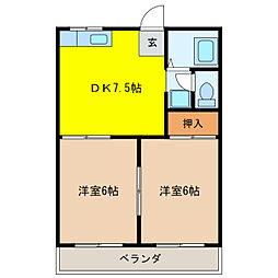 フォーブルマキタ[1階]の間取り
