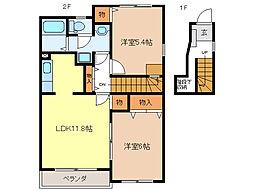 ラベンダーY&K[2階]の間取り