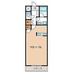 ミュトス[4階]の間取り