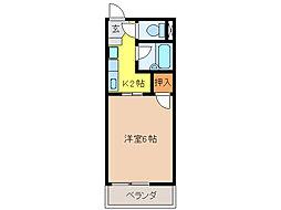 サープラスAKI A[1階]の間取り