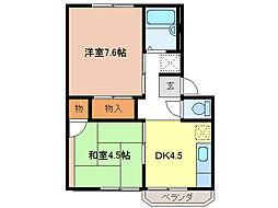 シャルム川崎[2階]の間取り