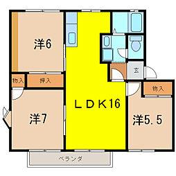 愛知県刈谷市東境町住吉の賃貸アパートの間取り