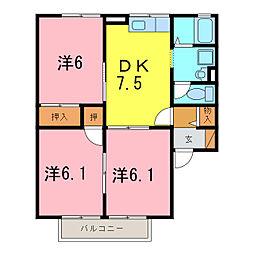 セジュールOZ[2階]の間取り