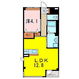 仮)S・M様賃貸マンション[1階]の間取り