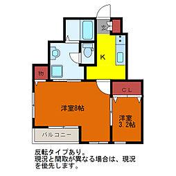シャテーニュI・II[1階]の間取り