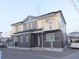 栃木県下都賀郡野木町大字潤島の賃貸アパートの外観