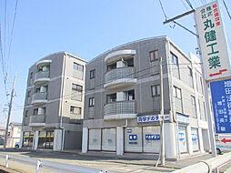 茨城県古河市女沼の賃貸マンションの外観