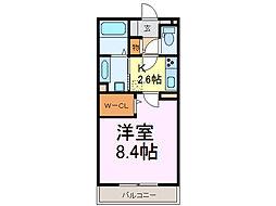 茨城県古河市長谷町の賃貸アパートの間取り