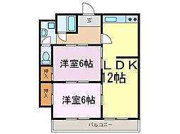 茨城県下妻市小島の賃貸マンションの間取り