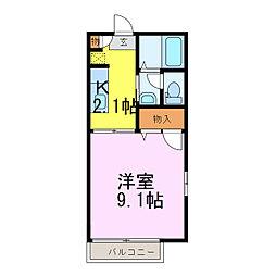 オレンジヒルズD[1階]の間取り