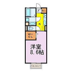 JR東北本線 古河駅 徒歩25分の賃貸アパート 1階1Kの間取り