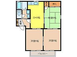 サンシャインハイツ梅井II[101号室]の間取り
