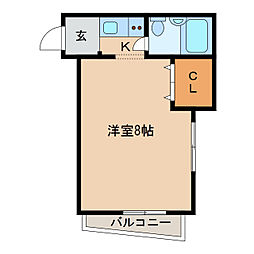 宝殿米田ヤングパレス[2階]の間取り