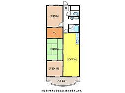 ソレイユ笠松[1階]の間取り