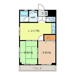 ハイツヤマヨシ[302号室]の間取り