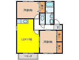 グリーンコート21[1階]の間取り