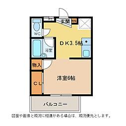 エクセレント101チュミック[2階]の間取り