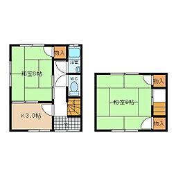 中村アパート[1号室]の間取り