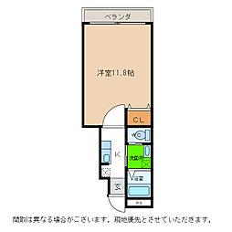 ピース・スクエア羽ノ浦A[105号室]の間取り