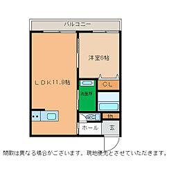ピース・スクエア小松島[105号室]の間取り
