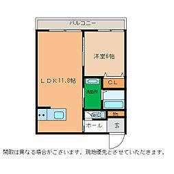 ピース・スクエア小松島[302号室]の間取り