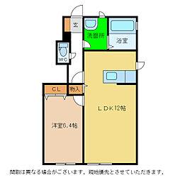シャーメゾン大森 B棟[1階]の間取り