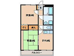 グローリアスガーデン[1階]の間取り