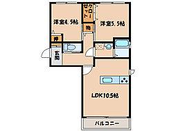 ガーベラA棟   [1階]の間取り