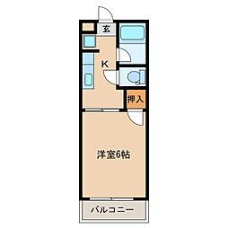 オリンピアマンション[1階]の間取り