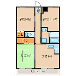 潮彩マンション西棟[1階]の間取り