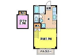サムシング21[1階]の間取り
