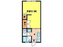 コーポ・ヒマワリ[1階]の間取り