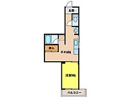 ケイコーポクキタ[3階]の間取り