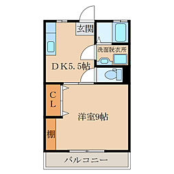 D−HOUSEI[107号室]の間取り