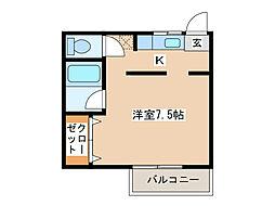 コーポマルモト[2階]の間取り